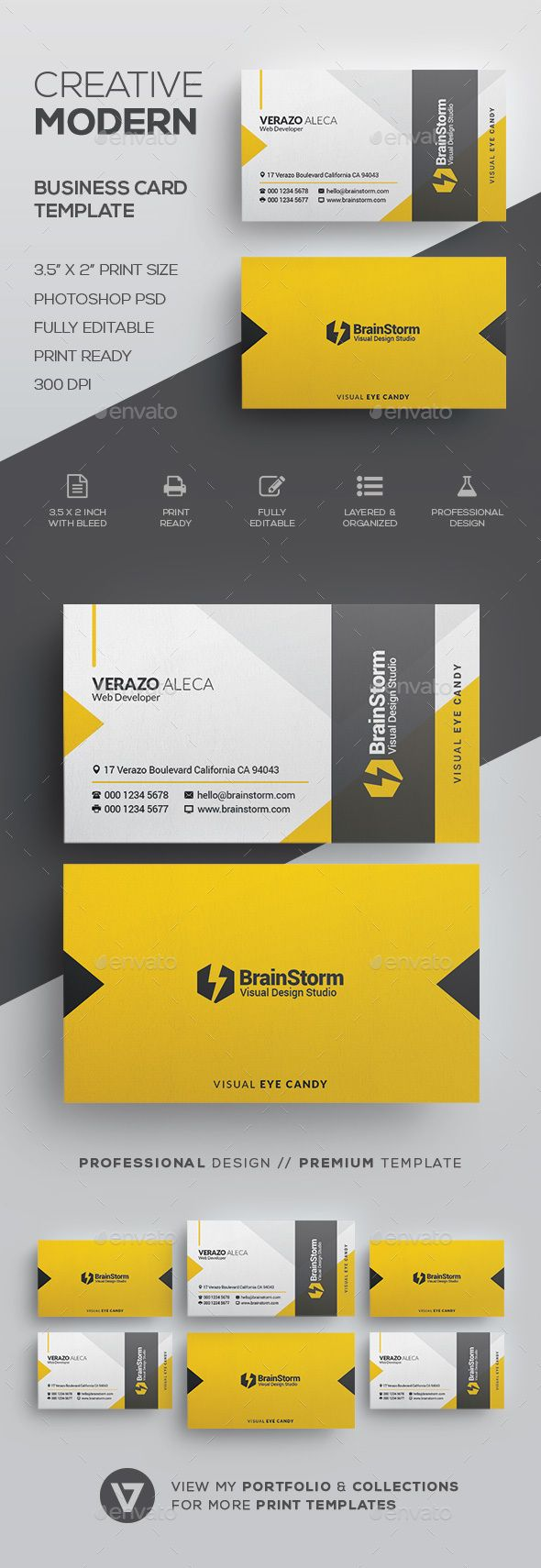 Create customised business cards from a range of