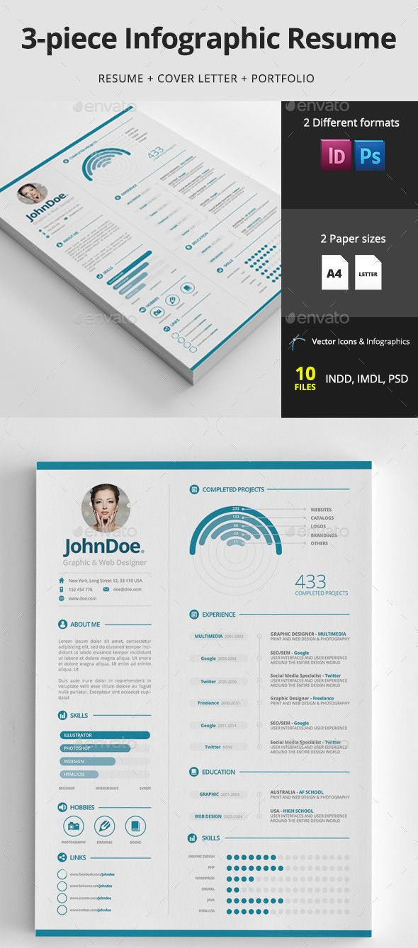 Infographic Resume Graphic Design  SoftwaremonsterInfo