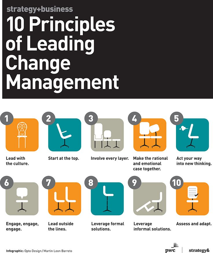 Business Infographic 10 Principles Of Leading Change