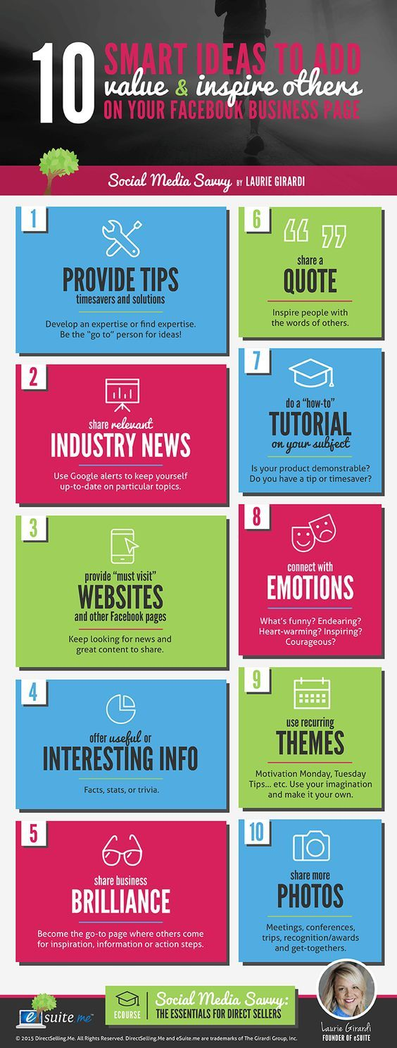 Business infographic : 30 Facebook Business Page Post Ideas