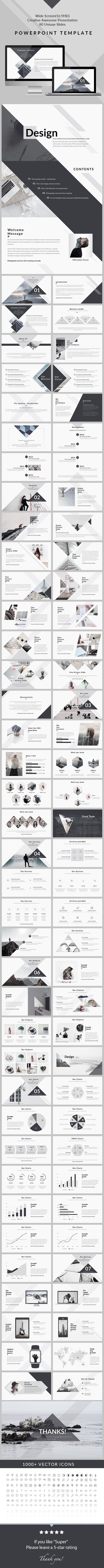 business infographic design clean creative powerpoint