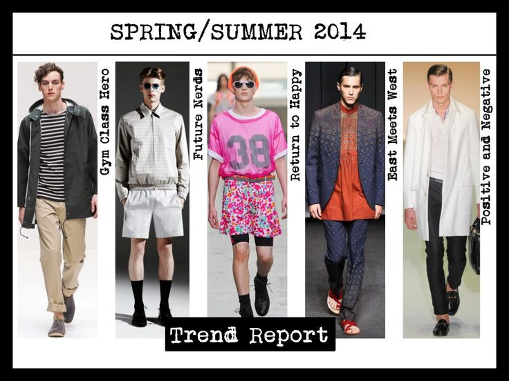 Spring 2017 Beauty Trend Report How To Wear Glitter: Fashion Infographic : Mens Spring Summer 2014 Fashion