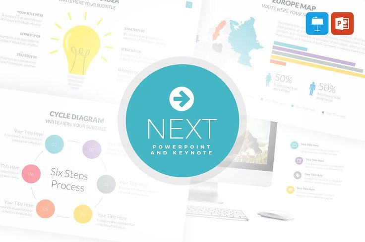 Business infographic : cool Powepoint and Keynote Presentation