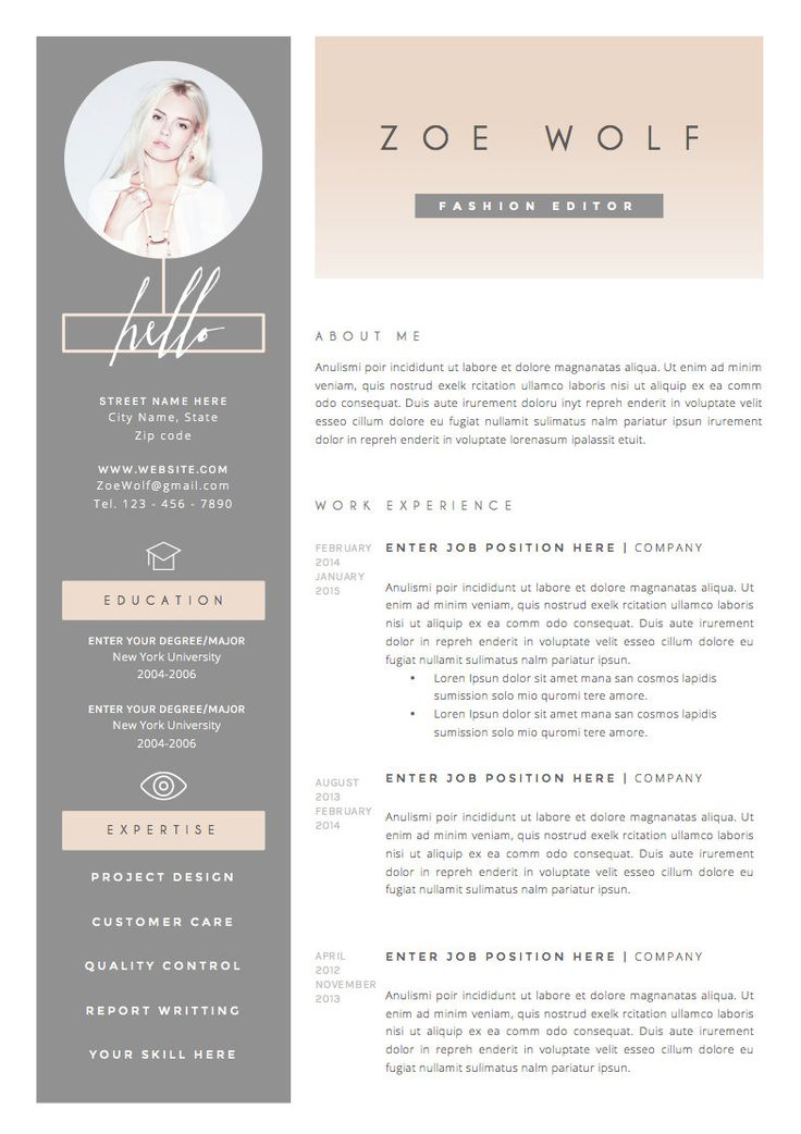 business infographic   resume template and cover letter   references template for word