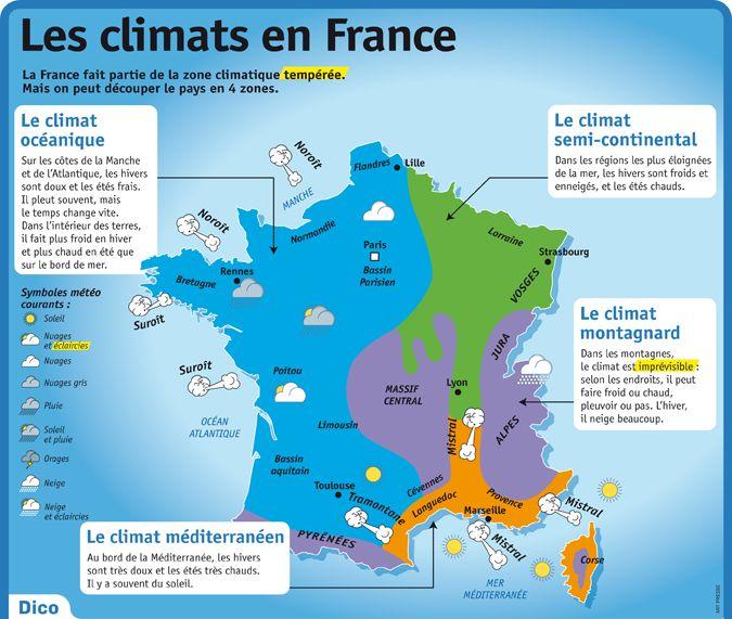 Educational infographic : Fiche exposés : Les climats en France... - InfographicNow.com   Your ...