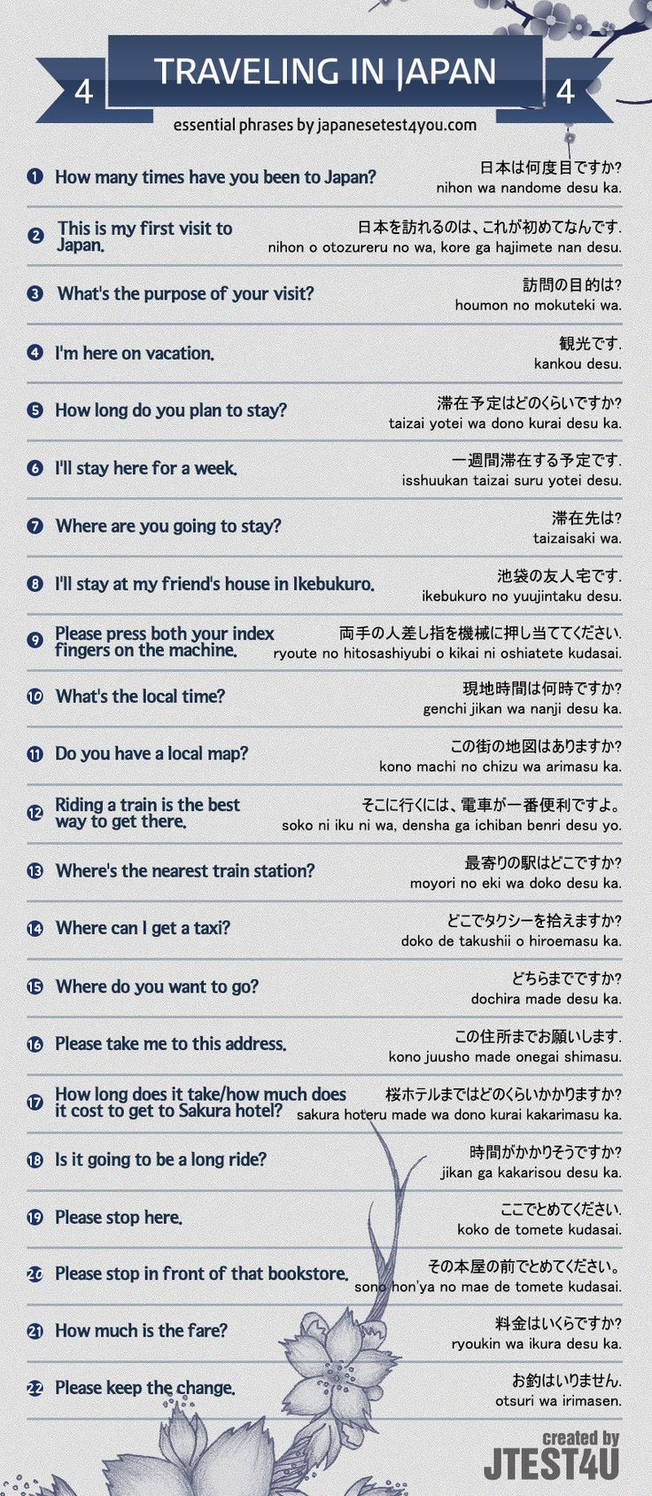 Educational Infographic Infographic Japanese Phrases