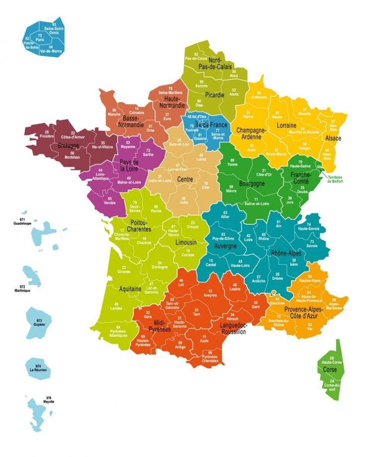 carte des 13 régions de france La carte définitive des 13 régions de France adoptée à l'Assemblée