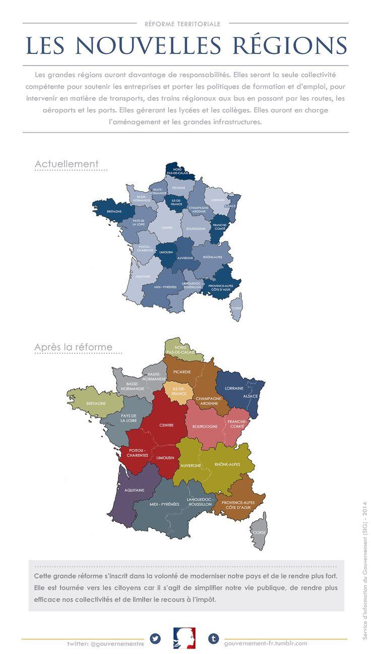 nouvelle carte des regions Educational infographic : La nouvelle carte des régions de la