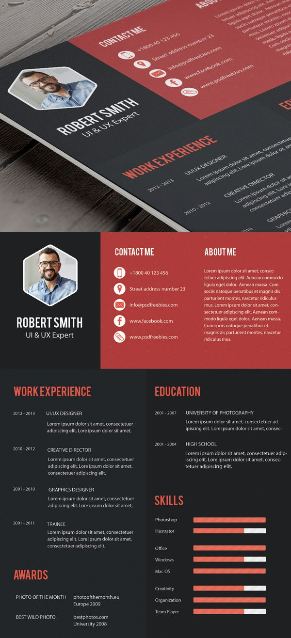 business infographic free professional cv resume and