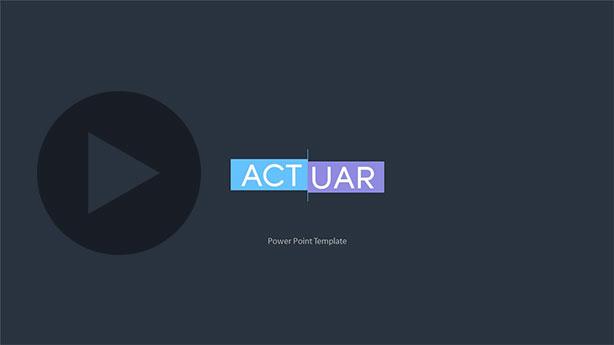Actuar Power Point Presentation Template - 1