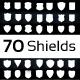 70 Emblem Shields  - GraphicRiver Item for Sale