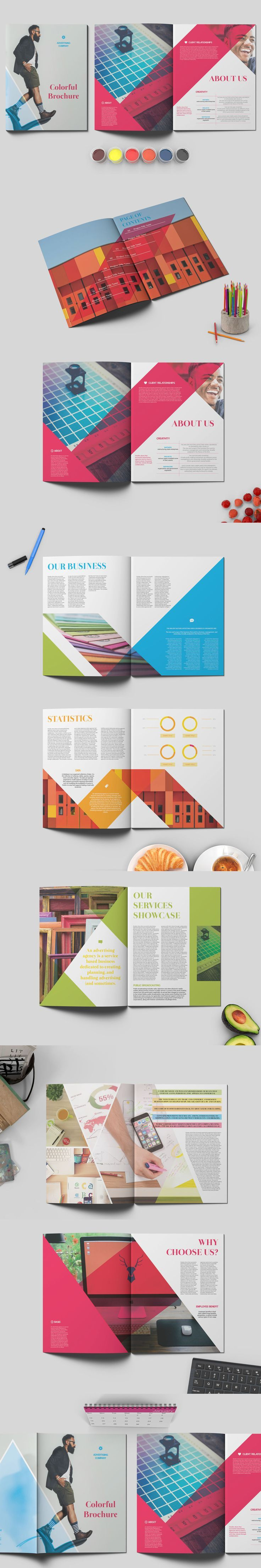 Business infographic business infographic colorful for Infographic brochure template