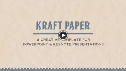 Kraft Paper Powerpoint Presentation Template - 1