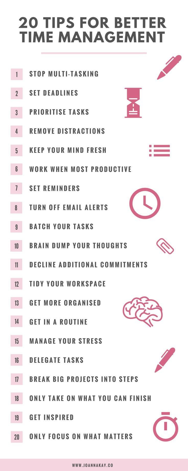 management   management   20 time management tips when you