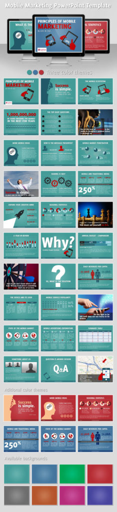 Discover Mobile Marketing Powerpoint Template Infographicnow