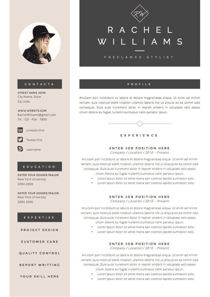 business infographic   3page resume    cv mod u00e8le cover letter pour par theresumeboutique