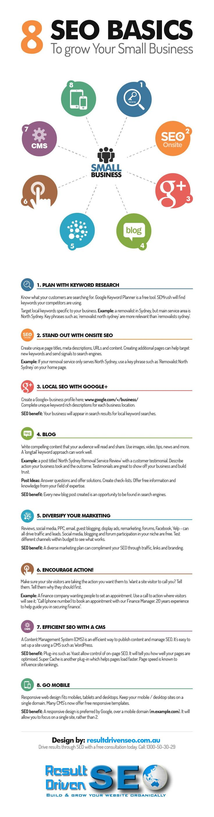 business infographic   8 seo basics to grow your small