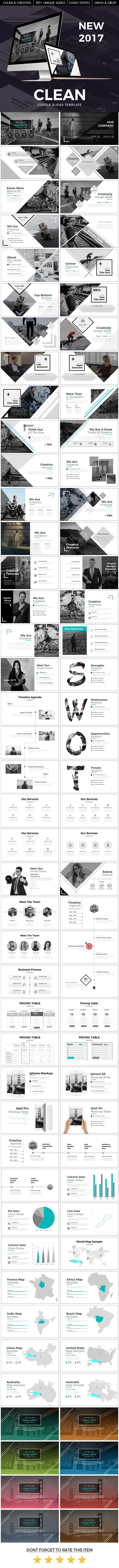 business infographic clean 2017 google slide template google
