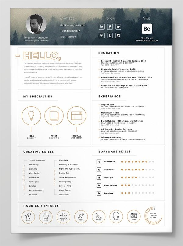 business infographic 10 best free resume cv templates in ai