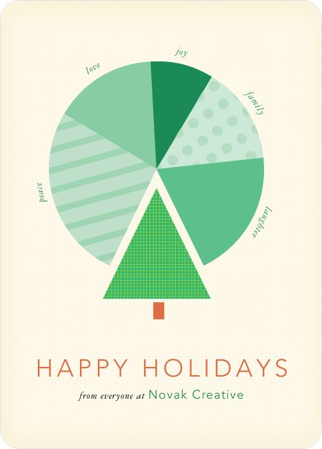 business infographic data visualisation - Holiday Cards 2017