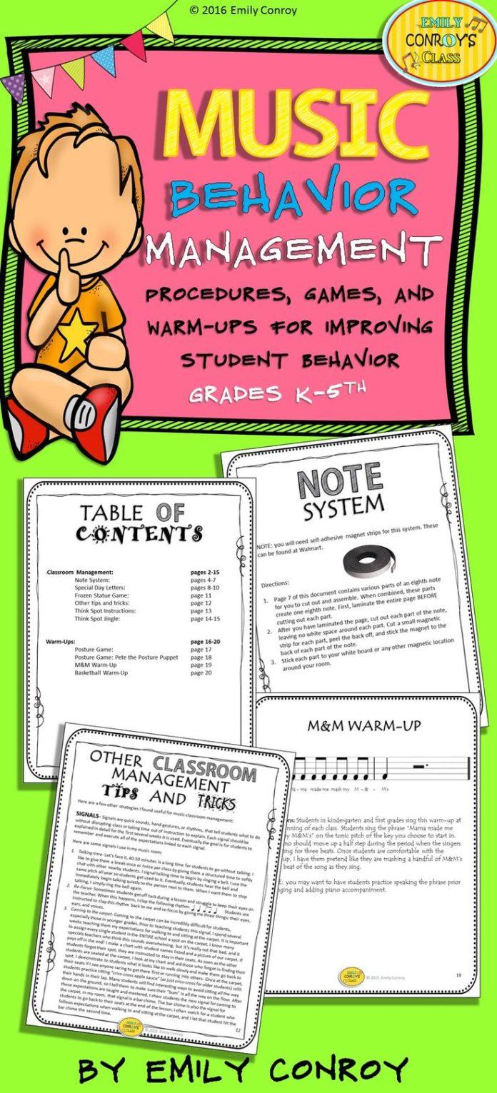 Management : Music Behavior Management-games,songs, warm ...