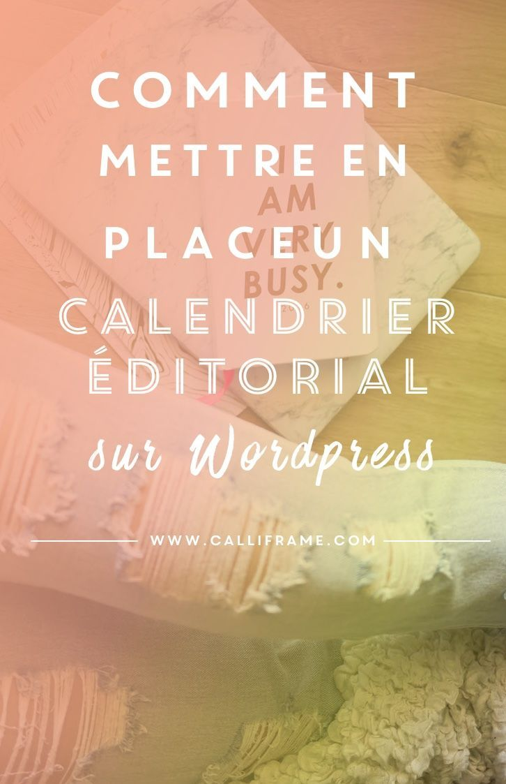 management   un plugin indispensable pour mettre en place un calendrier editorial sur wordpre
