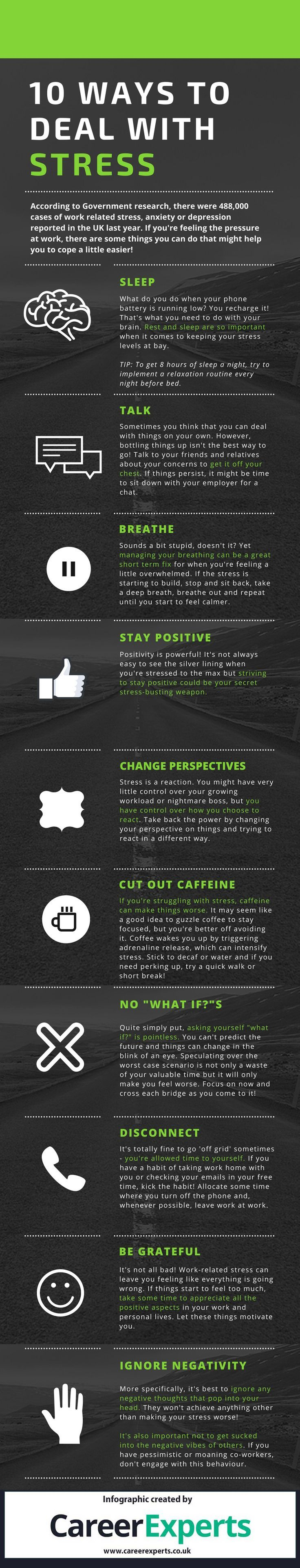 psychology   psychology   10 tricks to deal with stress infographic elearninginfograp