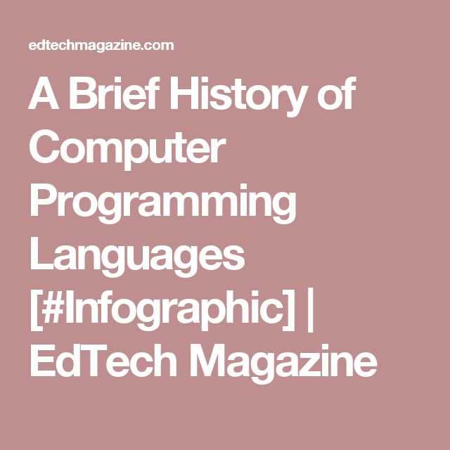 a brief look at computer programming languages Programming languages are a specific subset of computer  and classifies each  part of a webpage, css determines what they look like in the.