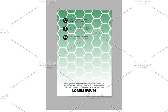 Business Infographic Brochure Design Geometric Abstract Business