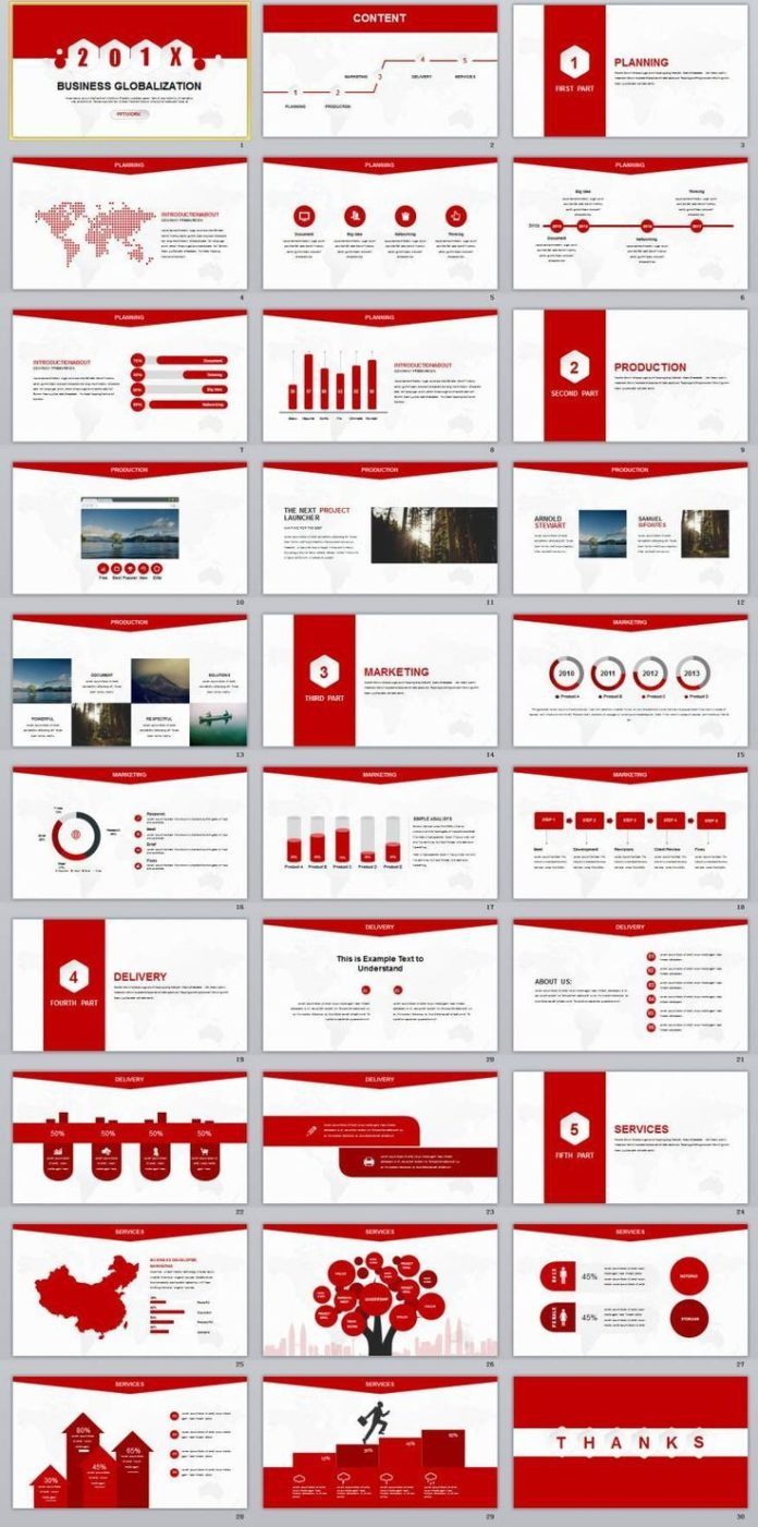 business infographic   30  red creative business report