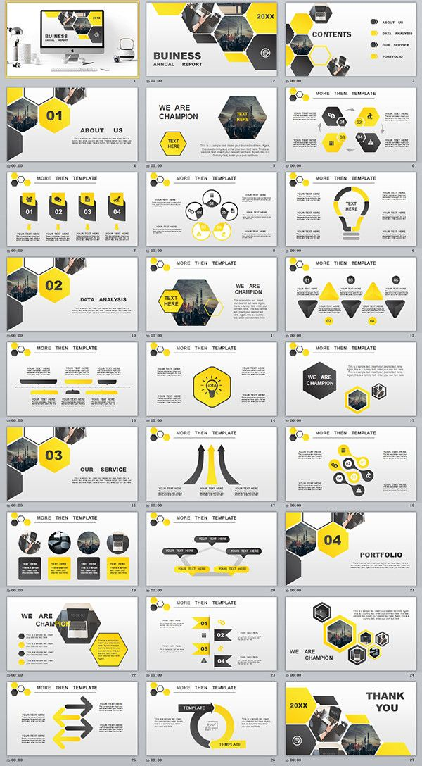 business infographic   27  yellow business annual plan