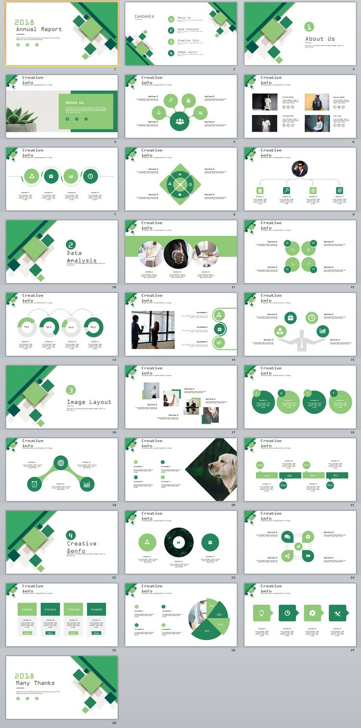 Business Infographic : 28+ Green Business Annual Report