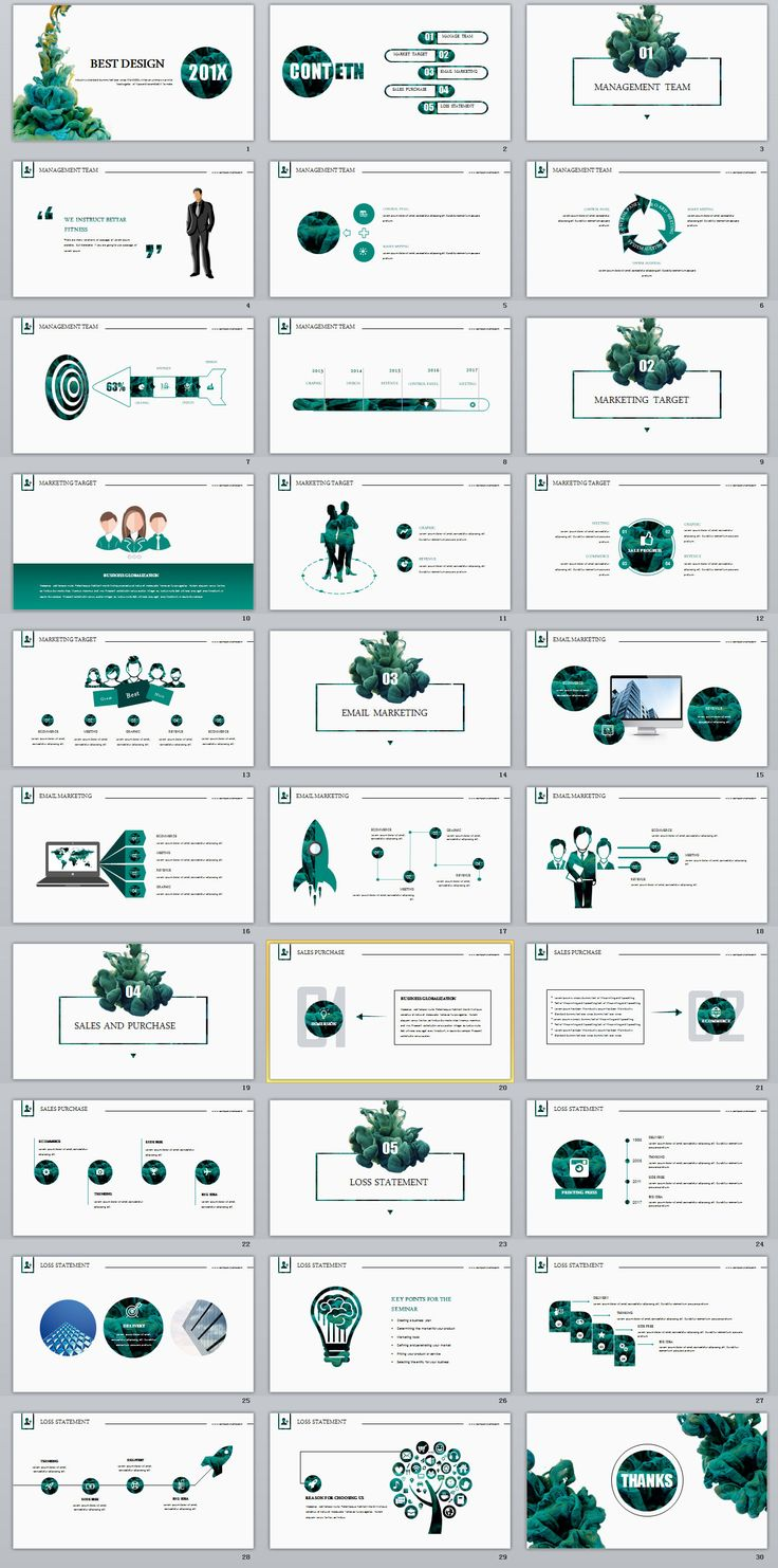 Business infographic : 30+ Best business report annual Green white