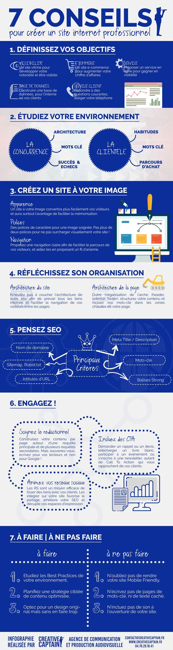 business infographic   7 conseils pour cr u00e9er un site internet professionnel