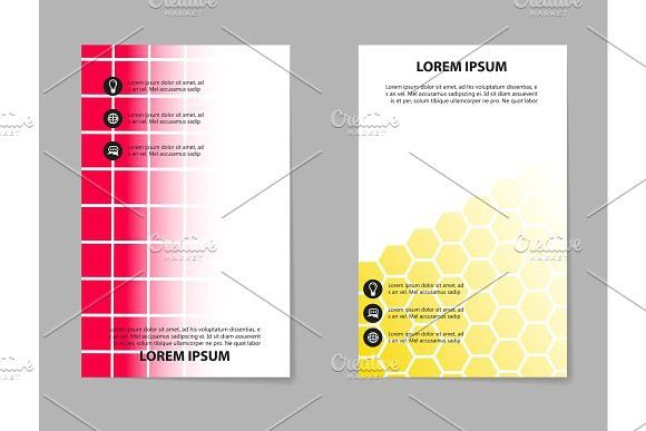Business Infographic Brochure Design Geometric Abstract - Infographic brochure template