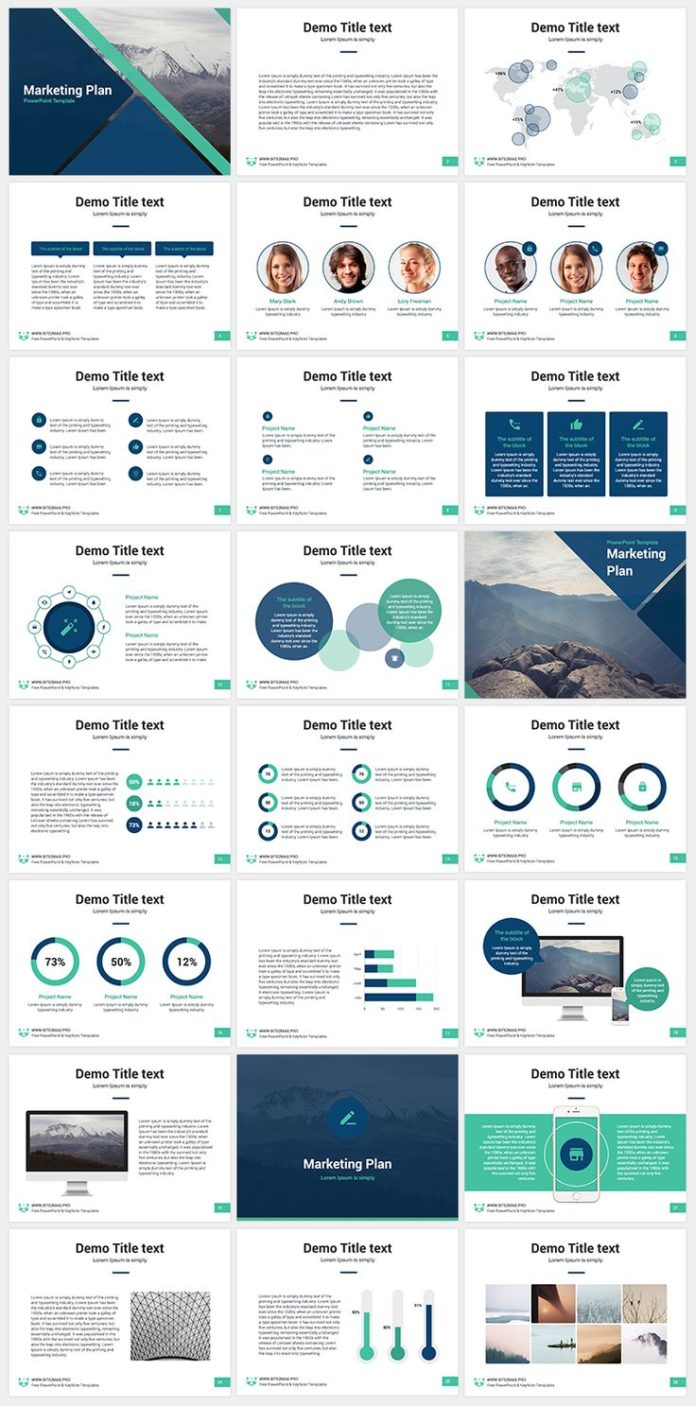 business infographic marketing plan free keynote template