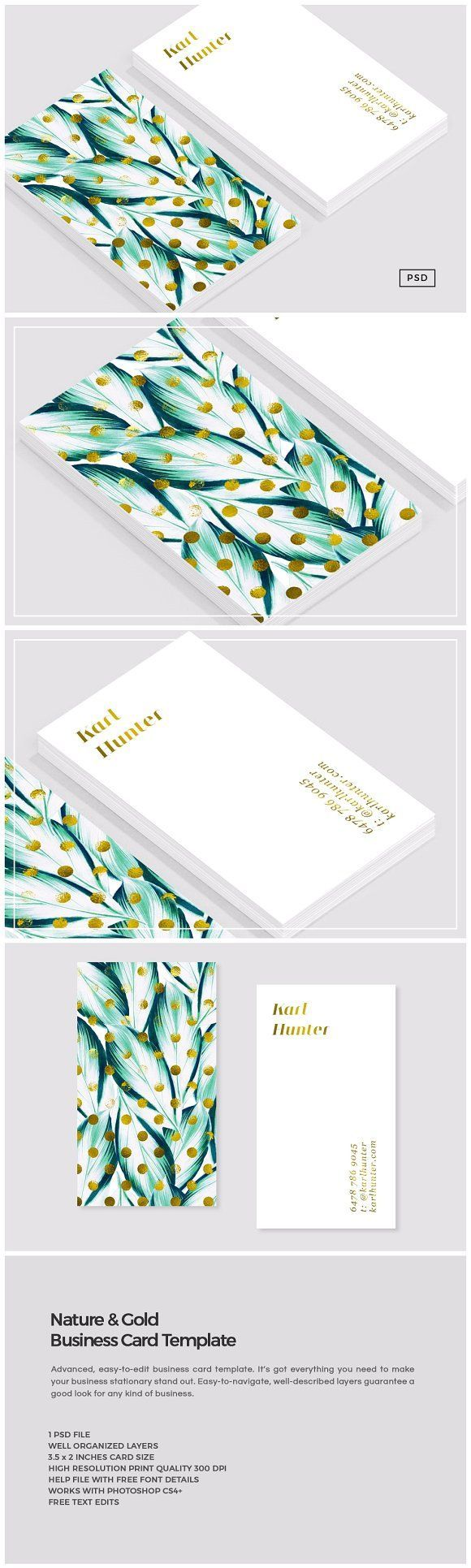 Business infographic nature gold business card for Business source label templates