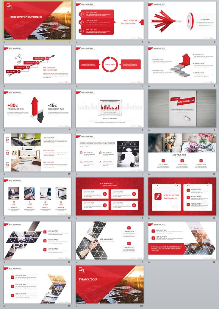 business infographic 20 red simple slide powerpoint