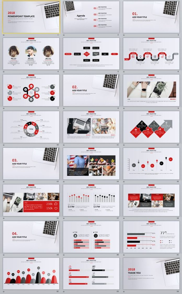 Business Infographic 24 Charts Creative Powerpoint Template