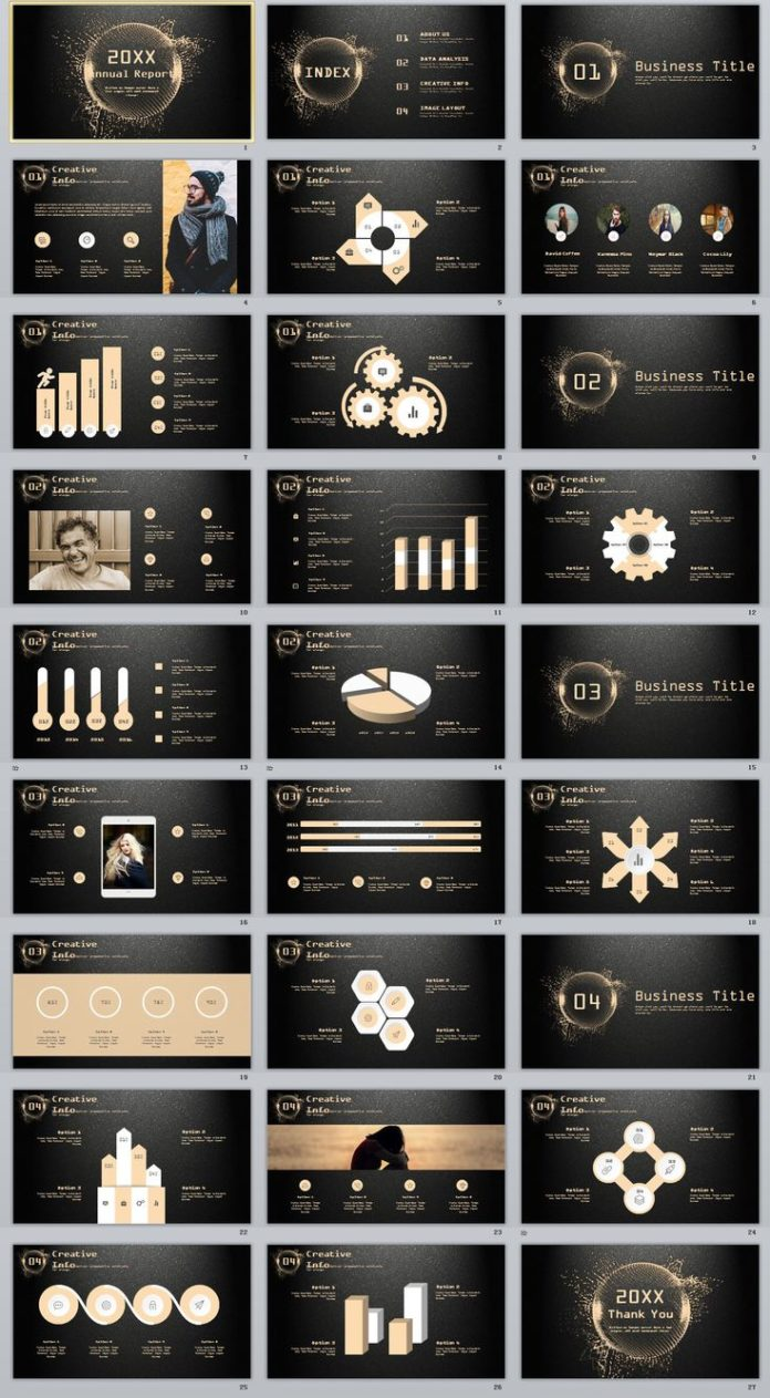 Business infographic : 26+ glod annual report chart PowerPoint ...