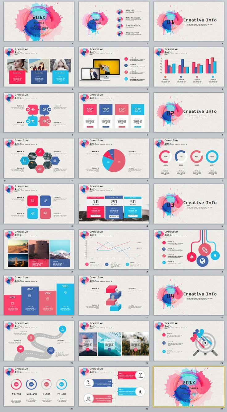 Business Infographic 27 Colorful Annual Report Charts