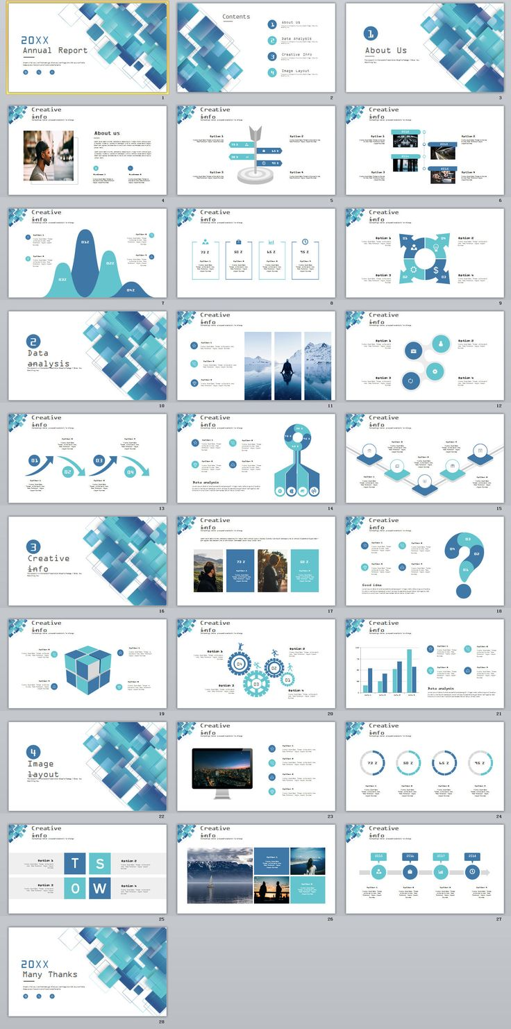 Business Infographic 28 Blue Swot Report Charts