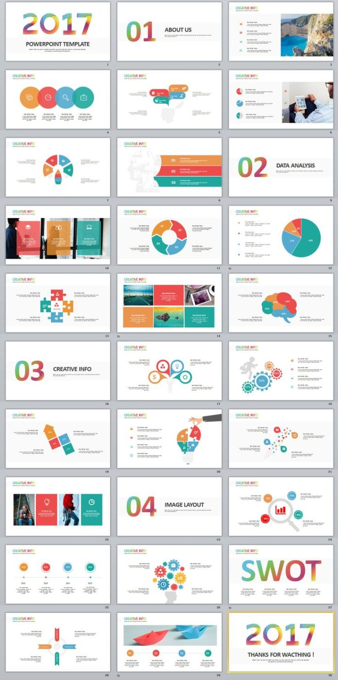 Business infographic 30 best infographics swot for Best free powerpoint templates 2017