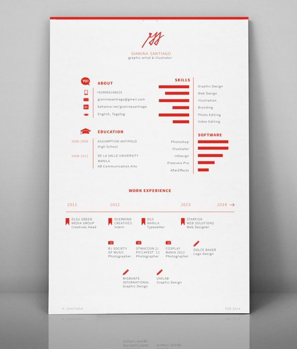 Business Infographic Self Branding 2014 On Behance