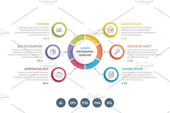 Business infographic circle diagram with 6 elements graphic circle diagram with 6 elements graphic design infographics ccuart Images