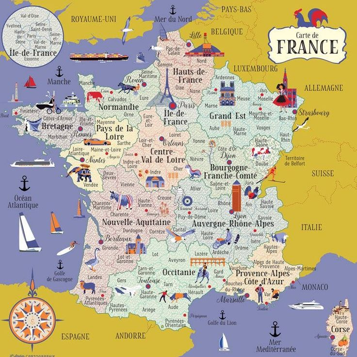 Educational infographic : Carte de France - InfographicNow.com | Your Number One Source For ...