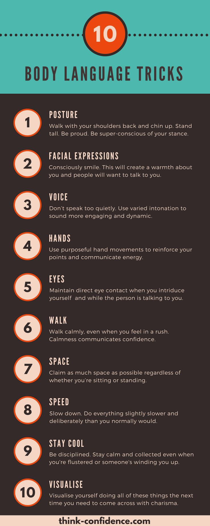 Educational infographic : Handy tips for Confident Body