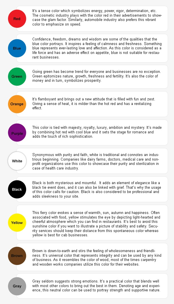 Psychology Colors And Their Meaning Infographicnow Your
