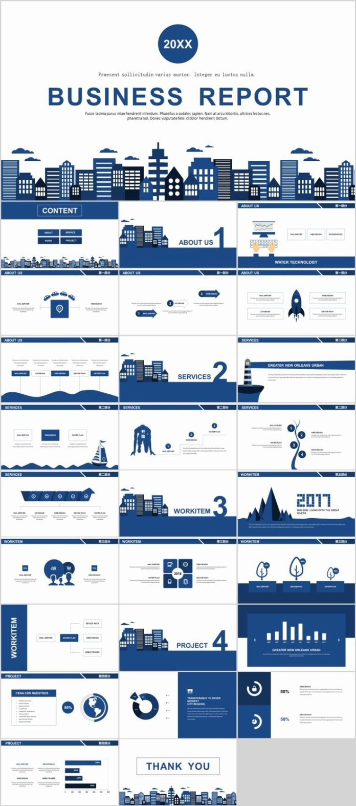 Business infographic 27 blue simple business report powerpoint business infographic data visualisation cheaphphosting Image collections