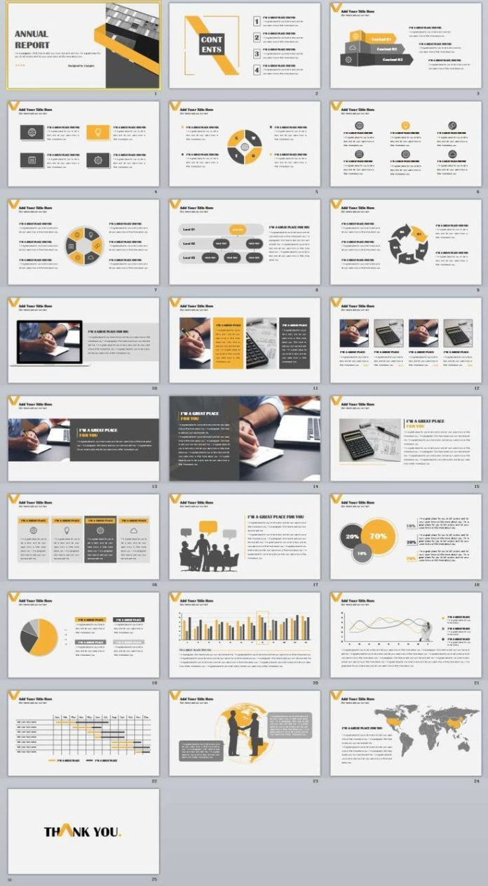 business infographic annual report powerpoint templates